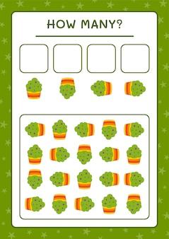 Combien de cup cake, jeu pour enfants. illustration vectorielle, feuille de calcul imprimable