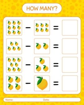 Combien de fruits aux œufs de gibier. feuille de travail pour les enfants d'âge préscolaire, feuille d'activité pour enfants, feuille de travail imprimable
