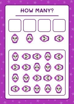 Combien de ghost, jeu pour enfants. illustration vectorielle, feuille de calcul imprimable