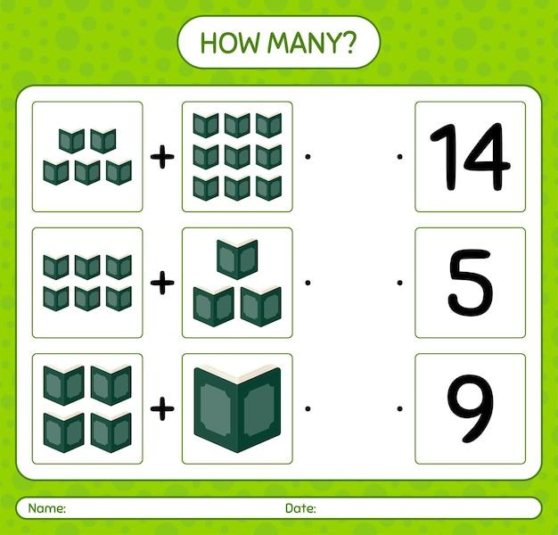 Combien de jeu de comptage avec le coran. feuille de travail pour les enfants d'âge préscolaire, feuille d'activité pour enfants, feuille de travail imprimable