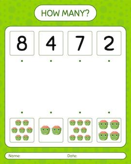 Combien de jeu de comptage avec frankenstein. feuille de travail pour les enfants d'âge préscolaire, feuille d'activité pour enfants