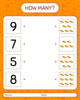 Combien de jeu de comptage avec la pleine lune. feuille de travail pour les enfants d'âge préscolaire, feuille d'activité pour enfants