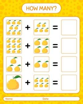 Combien de jeu de comptage avec ugli. feuille de travail pour les enfants d'âge préscolaire, feuille d'activité pour enfants, feuille de travail imprimable