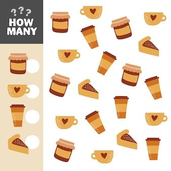 Combien d'objets tâche. jeu de mathématiques éducatif pour les enfants. jeu de comptage