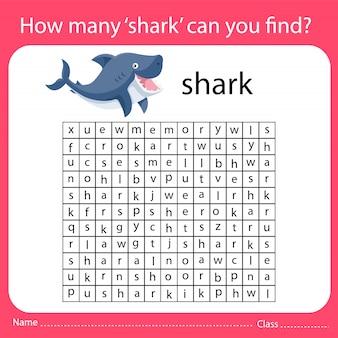 Combien de 'requin' pouvez-vous trouver