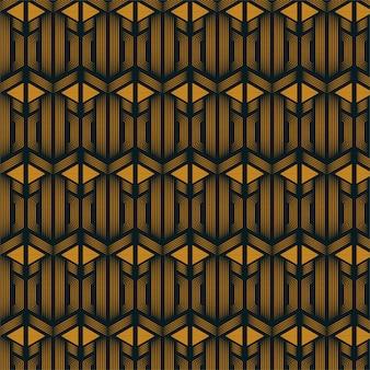 Combinaison de ligne hexagonale et modèle sans couture de forme triangle