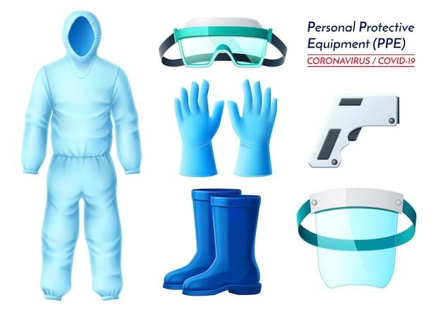 Combinaison de matières dangereuses pour équipement personnel réaliste