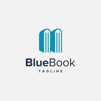 Combinaison moderne simple et élégante d'un vecteur de conception de logo de livre et de manoir