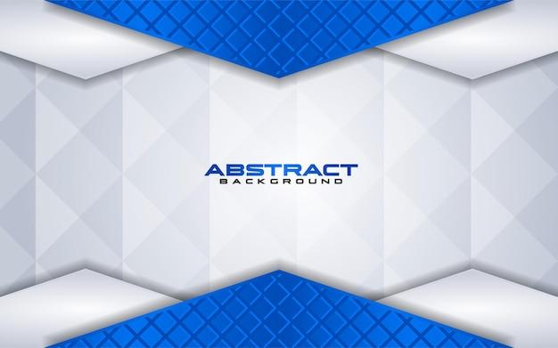 Combinaisons de fond blanc de luxe avec élément de ligne bleu avec chevauchement texturé