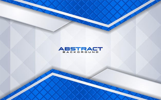 Combinaisons De Fond Blanc De Luxe Avec élément De Ligne Bleu Avec Chevauchement Texturé Vecteur Premium