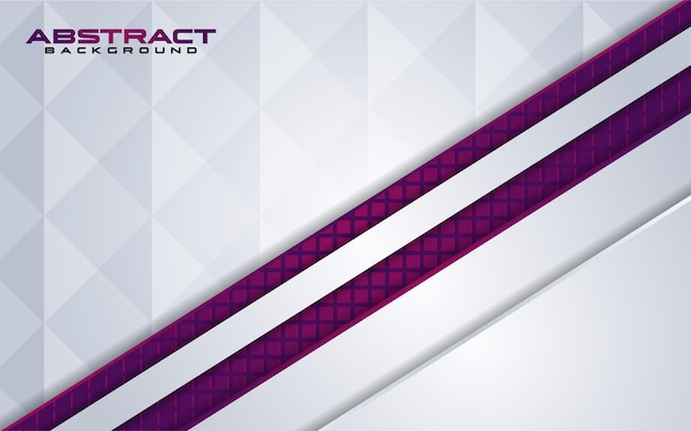 Combinaisons de fond blanc de luxe avec élément violet de ligne avec chevauchement texturé