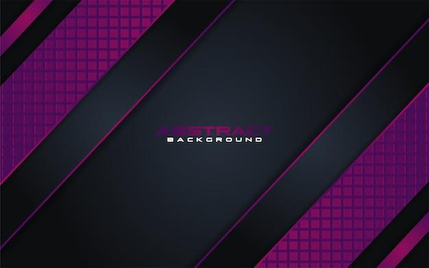Combinaisons de fond sombre de luxe avec élément violet de ligne avec chevauchement texturé