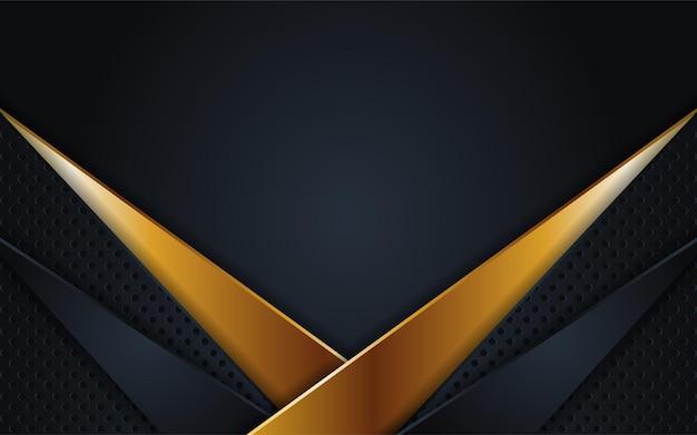 Combinaisons de fond sombre de luxe avec ligne or