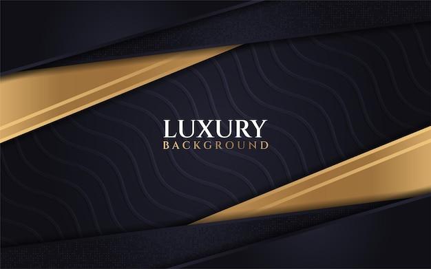 Combinaisons de texture de vague de fond sombre de luxe avec la ligne d'ampli de paillettes or