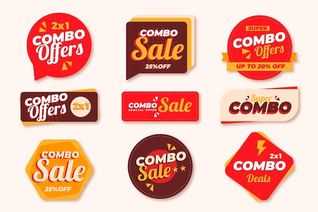 Combo propose une collection d'étiquettes