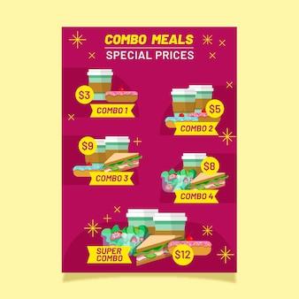 Combo repas - affiche