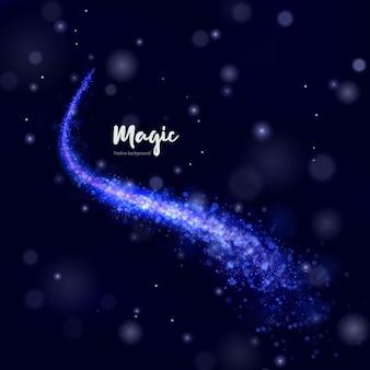 Comète de vacances bleu clair de noël
