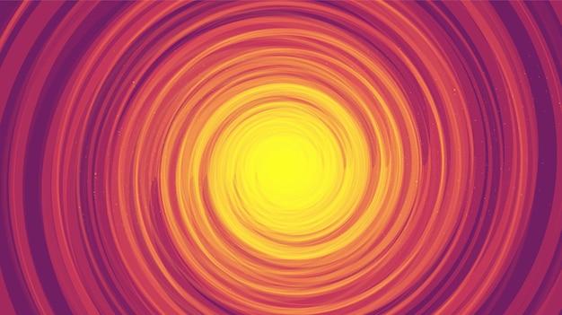 Comic spiral black hole sur fond de galaxie noire.planète et conception de concept de physique.