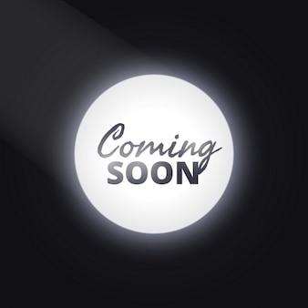 Coming soon texte avec attention la lumière