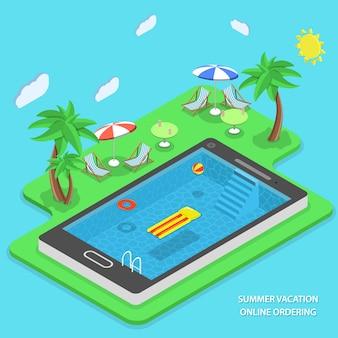 Commande en ligne de vacances d'été