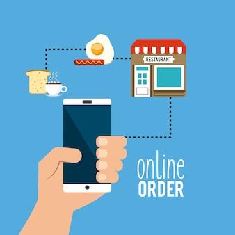 Commande de menu de restaurant en ligne