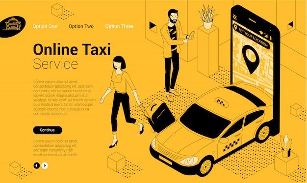 Commande de taxi en ligne