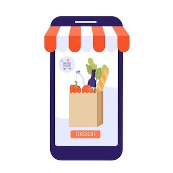Commandez le concept de nourriture en ligne.