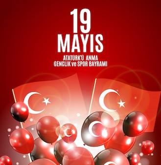 Commémoration de ataturk, journée de la jeunesse et du sport