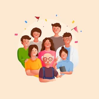 Commémoration de la fête mondiale des pères