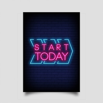 Commencer aujourd'hui le style des enseignes au néon
