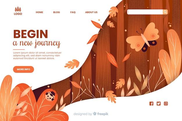 Commencer un nouveau modèle web de voyage