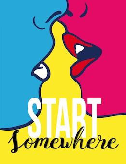 Commencer quelque part