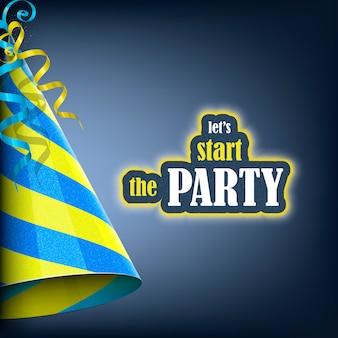 Commençons la fête, bannière de vacances