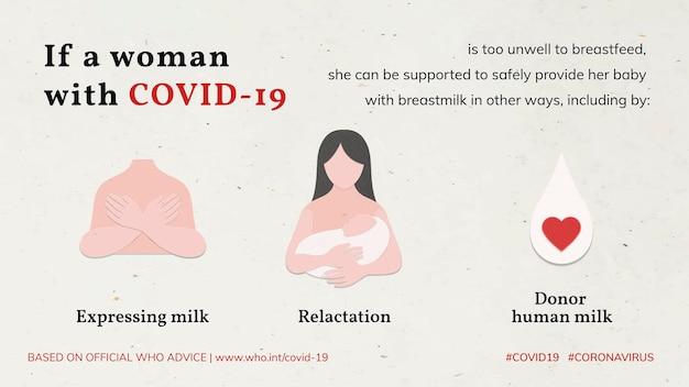 Comment allaiter en cas d'infection par covid-19 conseils