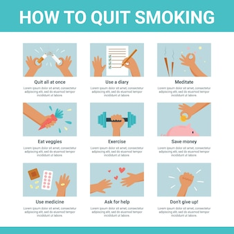 Comment arrêter de fumer - infographie