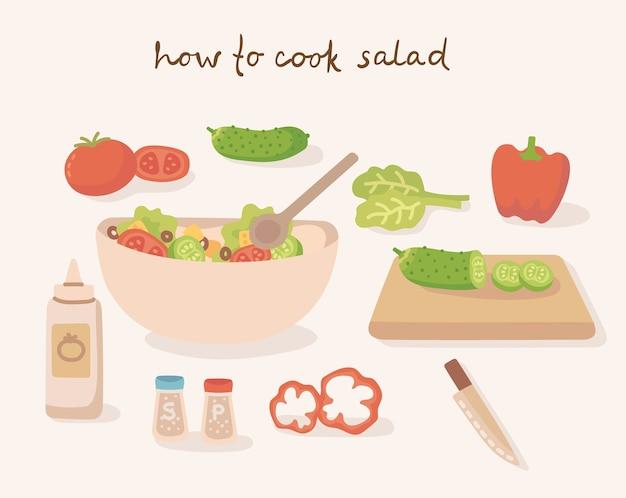 Comment cuisiner une savoureuse salade de légumes traditionnelle