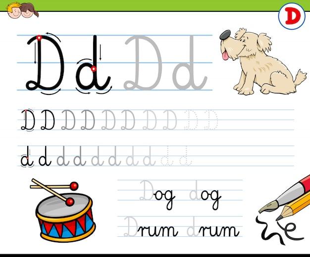 Comment écrire le classeur lettre d pour les enfants