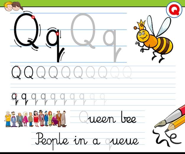 Comment écrire une lettre q