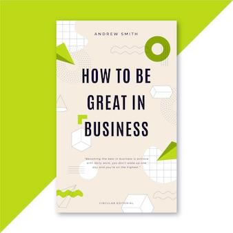 Comment être génial dans le modèle de couverture de livre d'entreprise