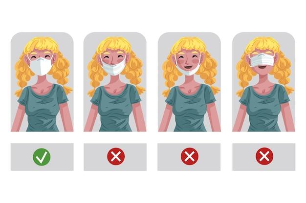 Comment porter une illustration de masque facial