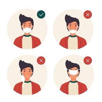 Comment porter un masque facial (bien et mal)