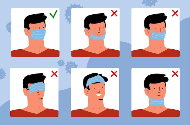 Comment porter un masque facial