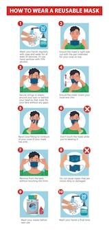 Comment porter un masque réutilisable un guide pour porter un masque facial comment porter un masque correctement