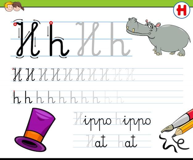 Comment rédiger un classeur en lettre h pour les enfants