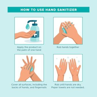 Comment utiliser le désinfectant pour les mains infographique