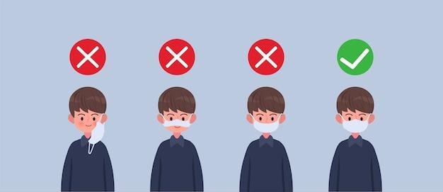 Comment utiliser les masques, porter un masque si vous prenez soin d'une personne suspectée d'infection à coronavirus comment porter correctement un masque de protection