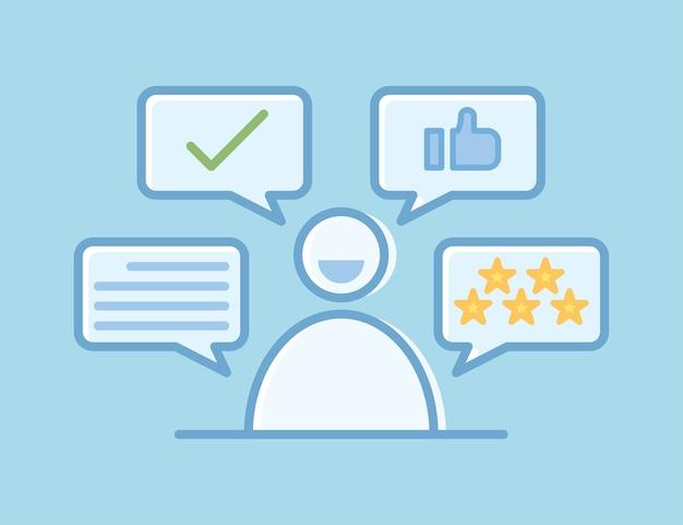 Commentaires positifs du client