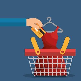 Commerce électronique mis en icônes