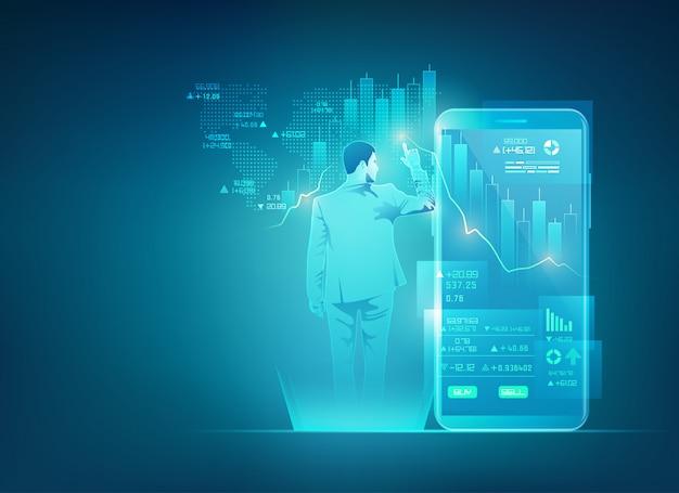 Commerce en ligne sur la technologie mobile