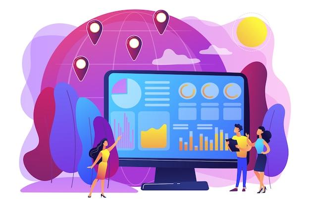 Commerce mondial, analyse boursière. analyse des statistiques du commerce international, mondialisation économique. concept d'analyse de données d'environnement.